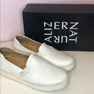 Naturalizer Carly 3 white perforated slip on
